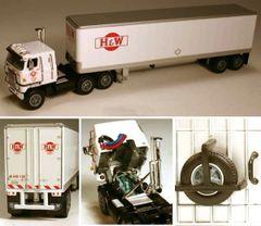 DCP H&W Motor Freight International Transtar II COE 1/64 SCALE
