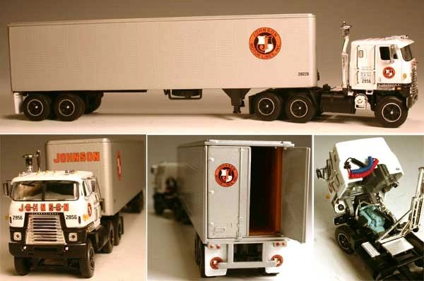 DCP Johnson Motor Lines, Inc. International Transtar II COE 1/64 SCALE