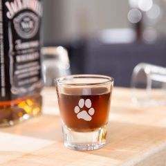 Shot Glasses - 1.5oz - Paw Print Only