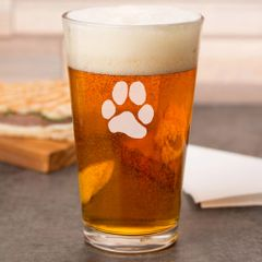 Pint Glass - 16oz - JL Paw Print