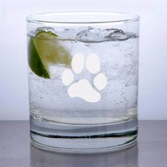Libbey Rocks Glass 11oz - JL Paw Print