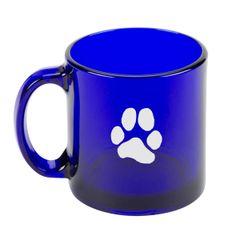 Cobalt Blue Coffee Mug - JL Paw Print