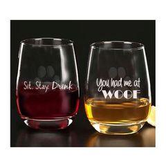 Sit.Stay. Drink Glassware