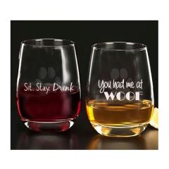 You had me at WOOF Glassware