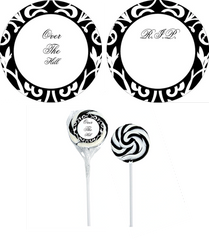 Over the Hill or R.I.P. Swirl Lollipop - ADD TO CANDY BEAR BOUQUET