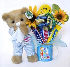 Get Well Candy Bear Bouquet Illie Willie