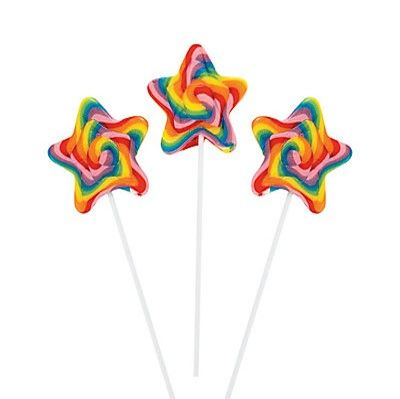 Rainbow Star Swirl Lollipop - ADD TO CANDY BEAR BOUQUET