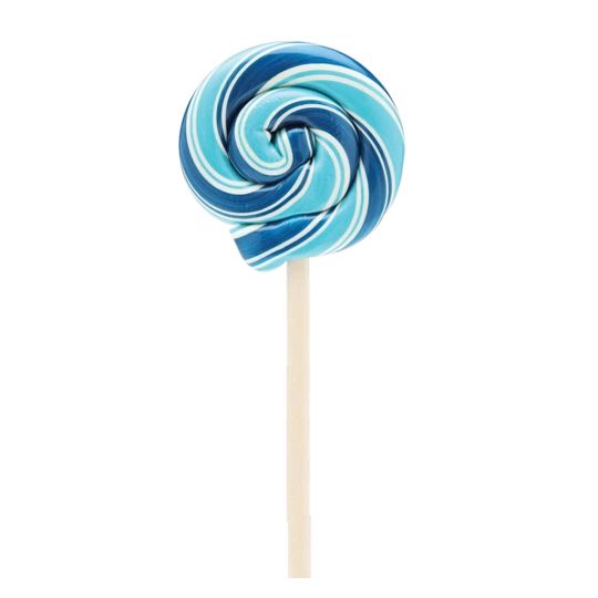 Hammond's Blue Raspberry Swirl Lollipop - ADD TO CANDY BEAR BOUQUET
