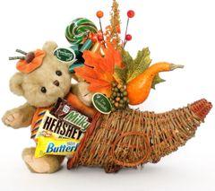 Thanksgiving Candy Bear Bouquet Izzy A. Pumpkin