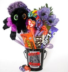 Halloween Candy Bear Bouquet Creeper Spider