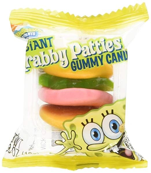 Spongebob Squarepants Krabby Patty Gummy - ADD TO CANDY BEAR BOUQUET
