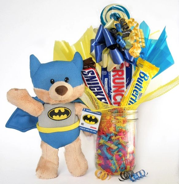 Batman Candy Bear Bouquet