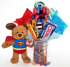 Superman Candy Bear Bouquet