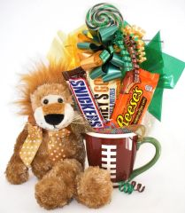 Football Candy Bear Bouquet Roary