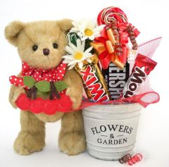 Candy Bear Bouquet Beary Cherry