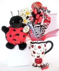Ladybug Candy Bear Bouquet Lucky Bug