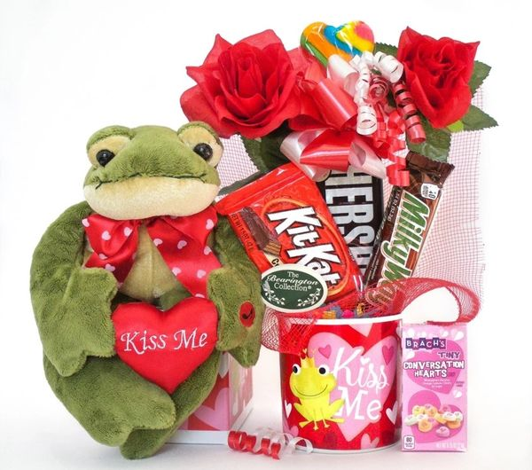 Valentine's Day, Anniversary, Love Candy Bear Bouquet Charming Frog
