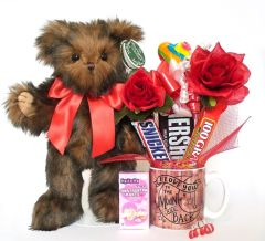 Valentine's Day, Anniversary, Love Candy Bear Bouquet Heartford