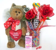 Valentine's Day, Anniversary, Love Candy Bear Bouquet Nuts About You