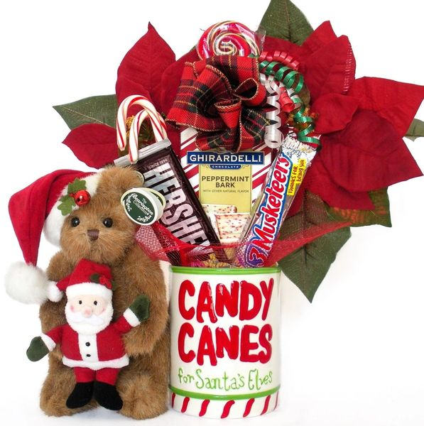 Christmas Candy Bear Bouquet Santa and Claus