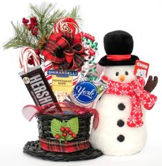 Christmas | New Year Candy Bear Bouquet Frost Snowman