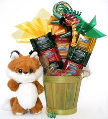 Red Fox Candy Bear Bouquet