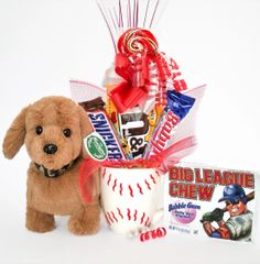 Baseball Candy Bear Bouquet Moxie Hog Dog