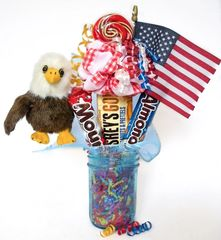 Soar the Eagle Candy Bear Bouquet