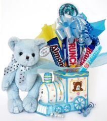 Baby Boy Candy Bear Bouquet Polky
