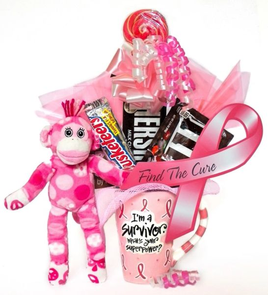 Breast Cancer Candy Bear Bouquet Survivor Sock Monkey