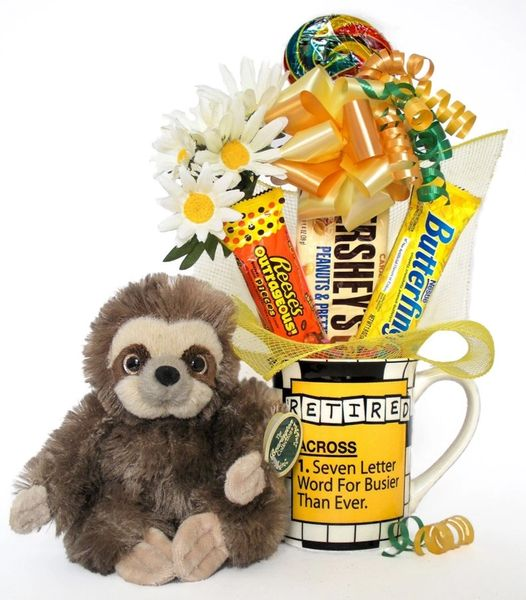 Retirement Candy Bear Bouquet Speedy Sloth