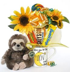 Sloth Candy Bear Bouquet Speedy Sun and Moon
