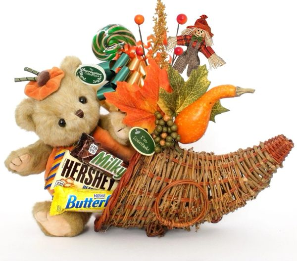 Thanksgiving Candy Bear Bouquet Izzy A. Pumpkin