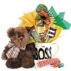 Boss's Day | Administrative Professionals Candy Bear Bouquet Bosco The Boss