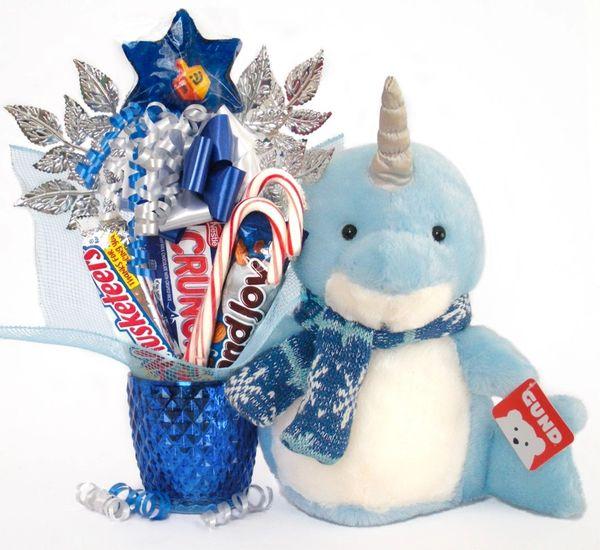 Hanukkah | Christmas Candy Bear Bouquet Neptune Narwhal