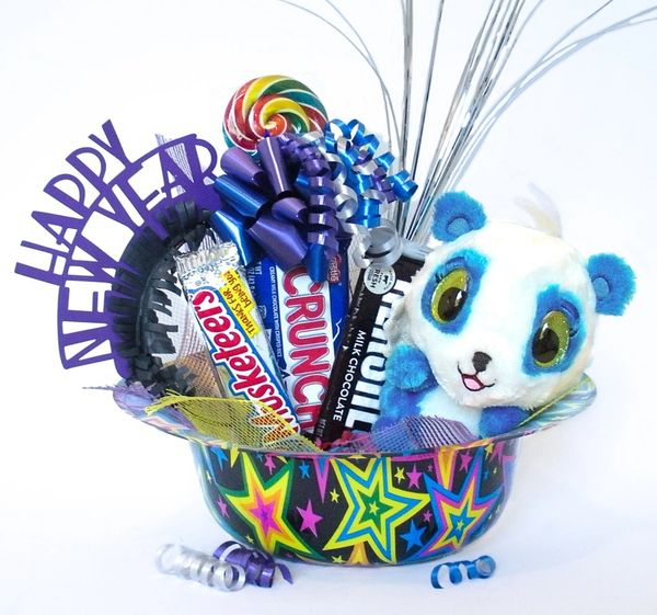 New Year Candy Bear Bouquet Hatchimal Happy New Year