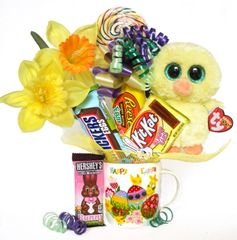 Easter Candy Bear Bouquet Nugget Chick