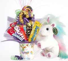 Unicorn Candy Bear Bouquet Rainbow Shimmers