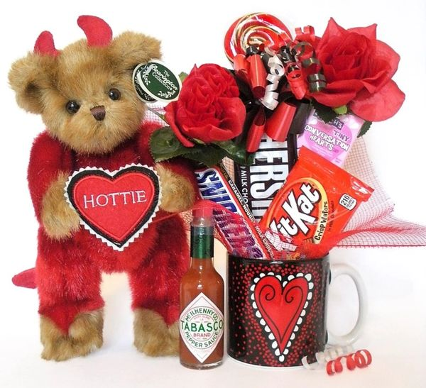 Valentine's Day, Anniversary, Love Candy Bear Bouquet Hottie Bear