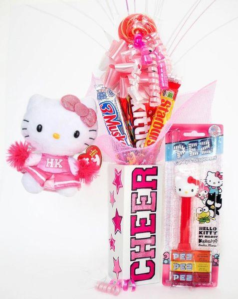 Hello Kitty Cheerleader Candy Bear Bouquet