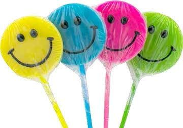 Smiley Lollipop - ADD TO CANDY BEAR BOUQUET