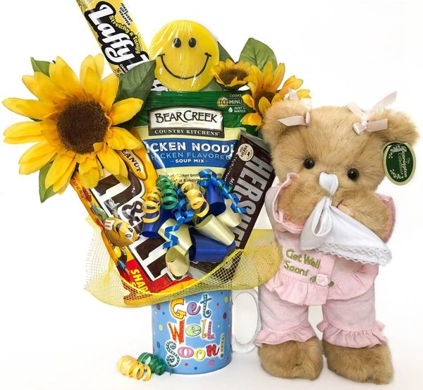 Get Well Candy Bear Bouquet Sicky Vicky