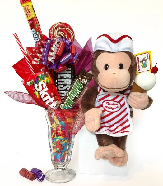 Curious George Candy Bear Bouquet Ice Cream Sundae
