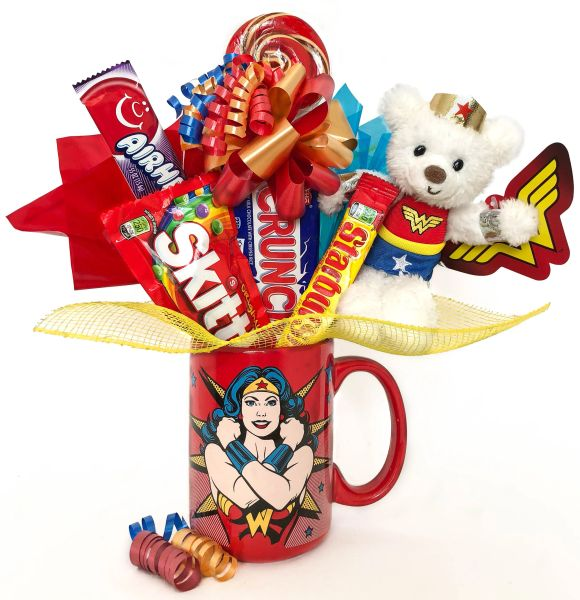 Wonder Woman Candy Bear Bouquet