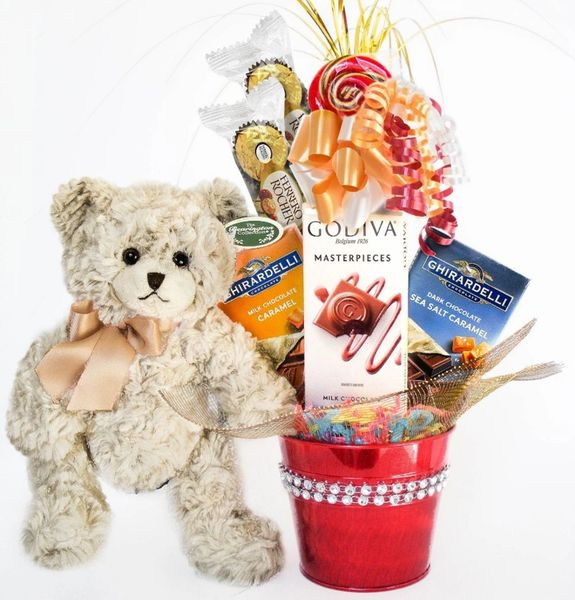 Gourmet Candy Bear Bouquet Huggles