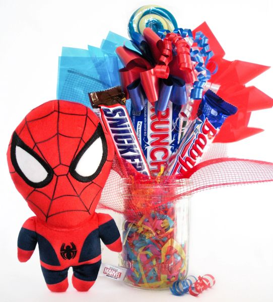 Spiderman Candy Bear Bouquet