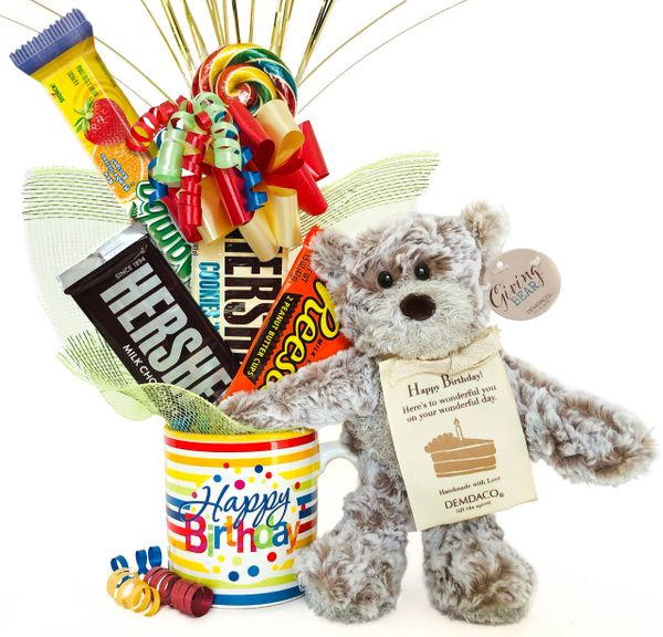 Birthday Candy Bear Bouquet Happy Birthday Giving Bear™