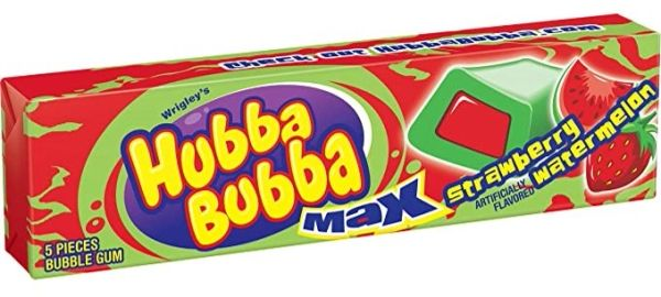 Hubba Bubba Strawberry Watermelon Bubble Gum - ADD TO CANDY BEAR BOUQUET