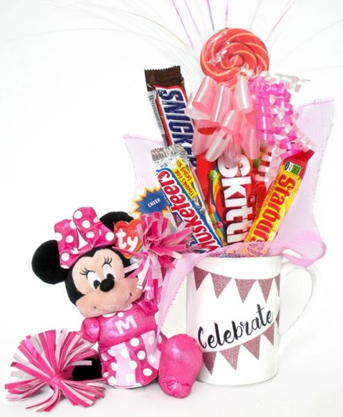 Minnie Mouse Cheerleader Candy Bear Bouquet