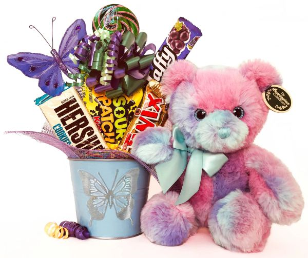 Butterfly Candy Bear Bouquet Lil' Gem Butterfly Bear